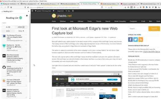 Save your tabs for later with the Reading List extension for Firefox