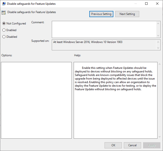 bypass feature update blocks
