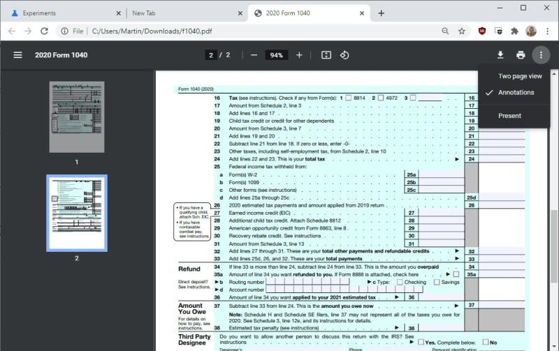 chrome nuovo visualizzatore di pdf
