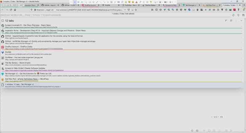 Cerca e gestisci le schede da più finestre con facilità utilizzando Tab Manager V2 per Firefox e Chrome