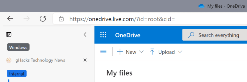 caricamento delle dimensioni del file su unità disco