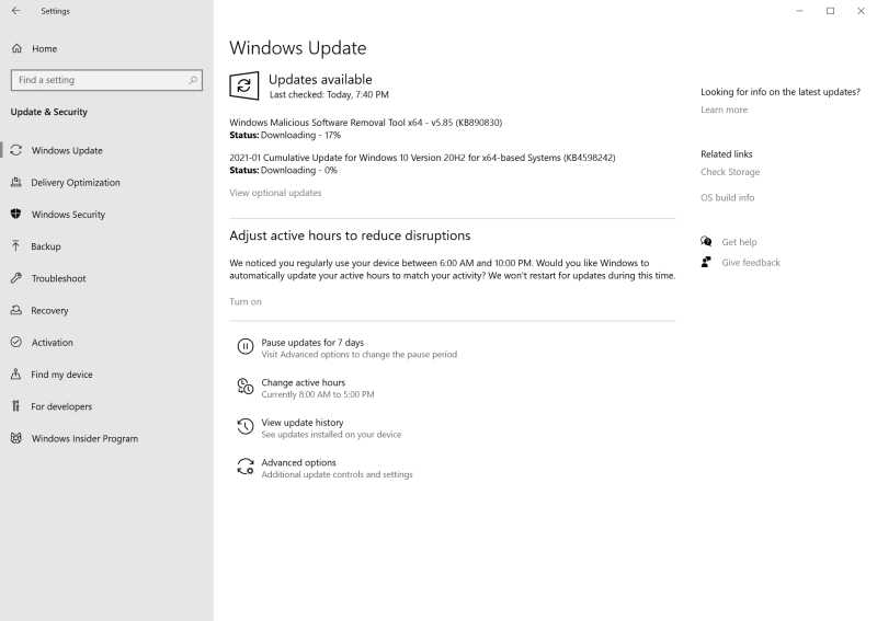 Windows gennaio 2021 aggiorna la sicurezza