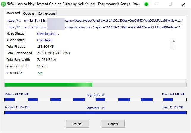 Download di video Neat Download Manager
