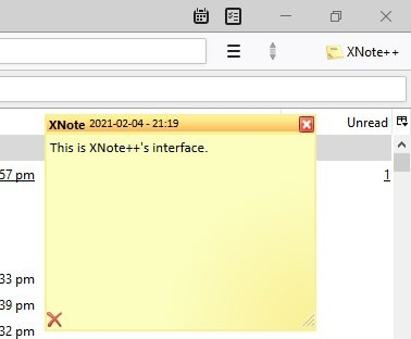 XNote ++ GUI