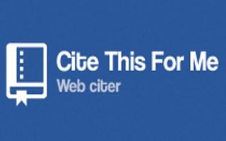 Cita questo per me Estensione Chrome Web Citer