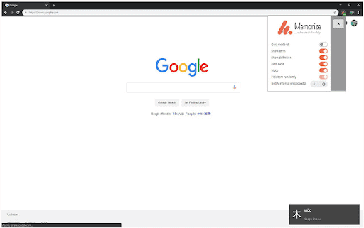 Lo strumento di estensione del browser Memorize Chrome offre molte utili opzioni di personalizzazione.