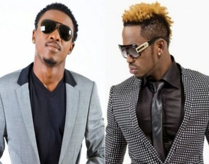 This is why Diamond has hanged a photo of Alikiba on the wall at his office despite their bitter rivalry (Photos)