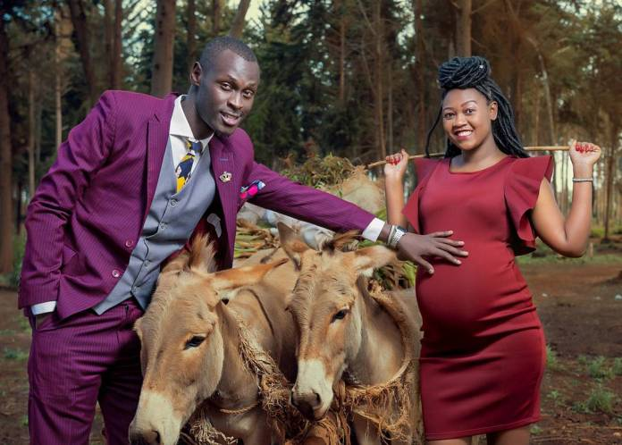 King Kaka with his pregnant wife