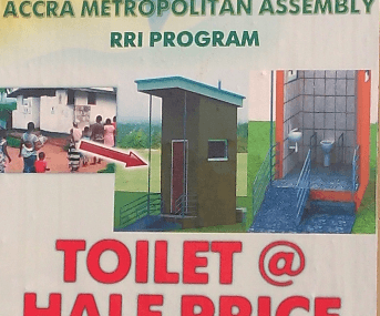 Residents in Accra to get toilet facilities at half price