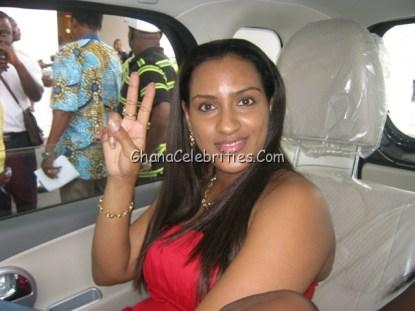 Juliet Ibrahim says hello to GhanaCelebrities.com