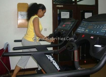 Juliet Ibrahim Using Golden Tulip Gym