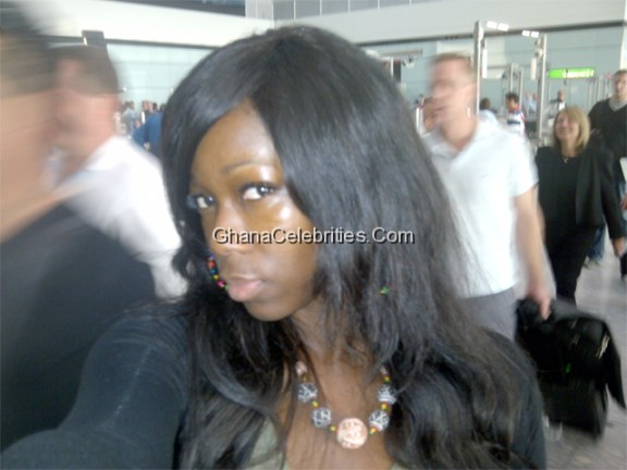 Ama K Abebrese At The Airport Heading To Milan On Day 2