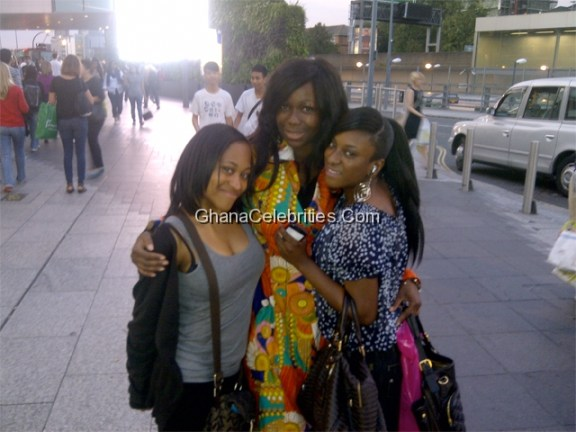 Ama K Abebrese Bumps Into 2 Lovely Fans