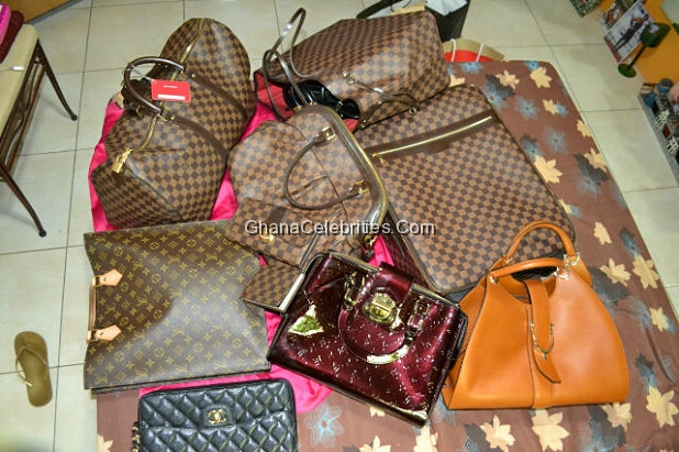 Yvonne Nelson Tweeted on 7th January,2012 to show off the various LV Bags she Is selling in her shop