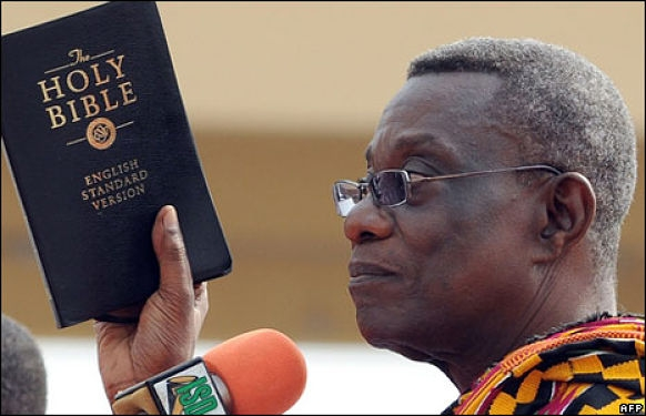 Image result for Atta Mills, Ghana's former president praying
