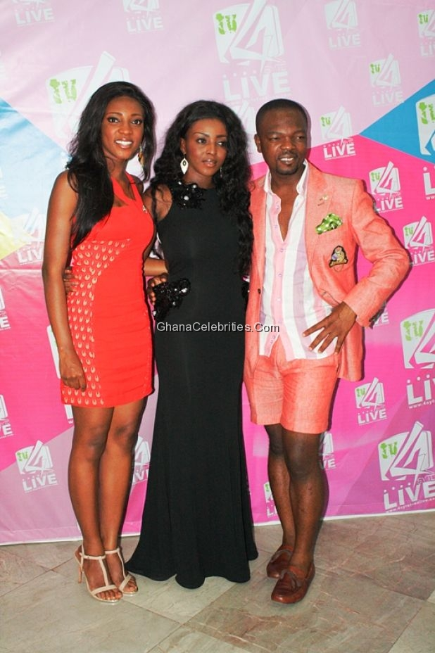 Yvonne Okoro with her sister and KOD at the Grand Premiere of Adams Apple Chapter 10