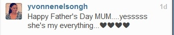 Yvonne Nelson Fathers day message