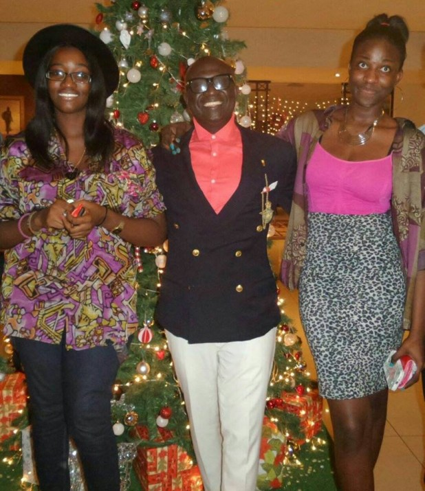 Miss Ewuraffe Orleans Thompson  right and KKD
