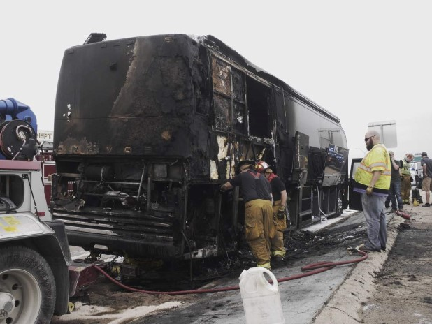 Lady Antebellum Bus Catches Fire