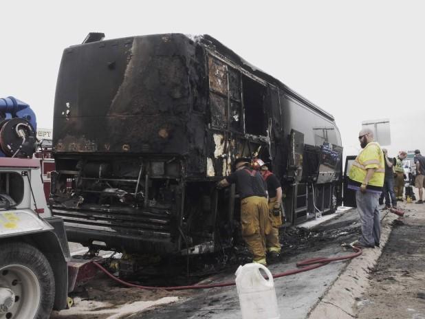 Lady Antebellum Bus Catches Fire