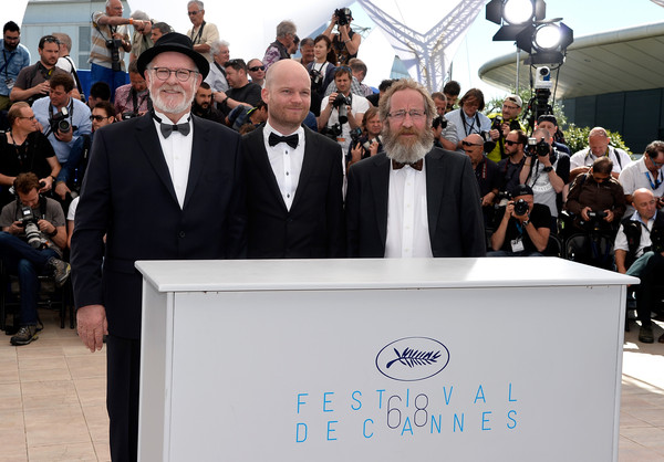 (L-R) Actor Theodor Juliusson, director Grimur Hakonarson and actor Sigurdur Sigurjonsson attend a photocall for Hrutar - Beliers - Rams during the 68th annual Cannes Film Festival on May 15, 2015 in Cannes, France. (2)