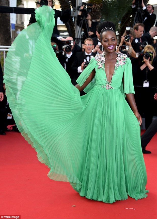 Lupita at the 68th Cannes Film Festival