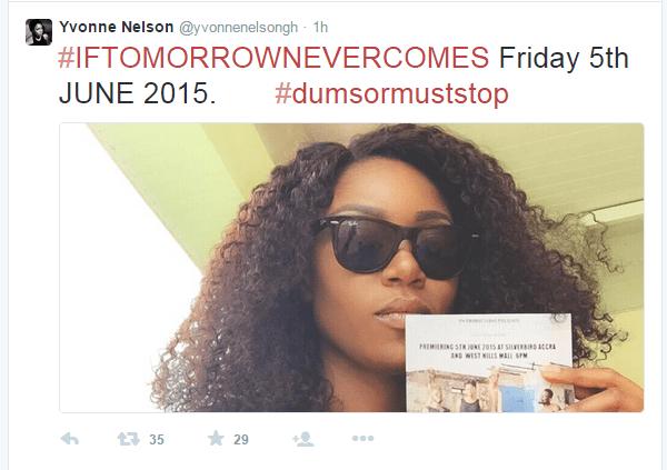Yvonne Nelson's tweet