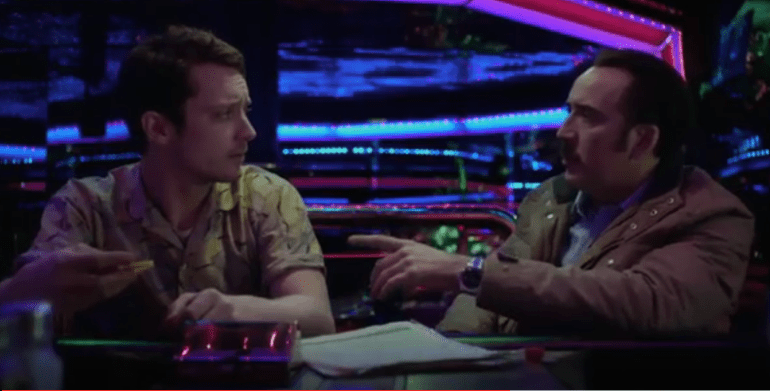 Nicholas Cage and Elijah Wood in'The Trust'