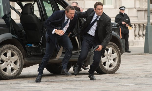 Gerard Butler and Aaron Eckhart in London Has Fallen