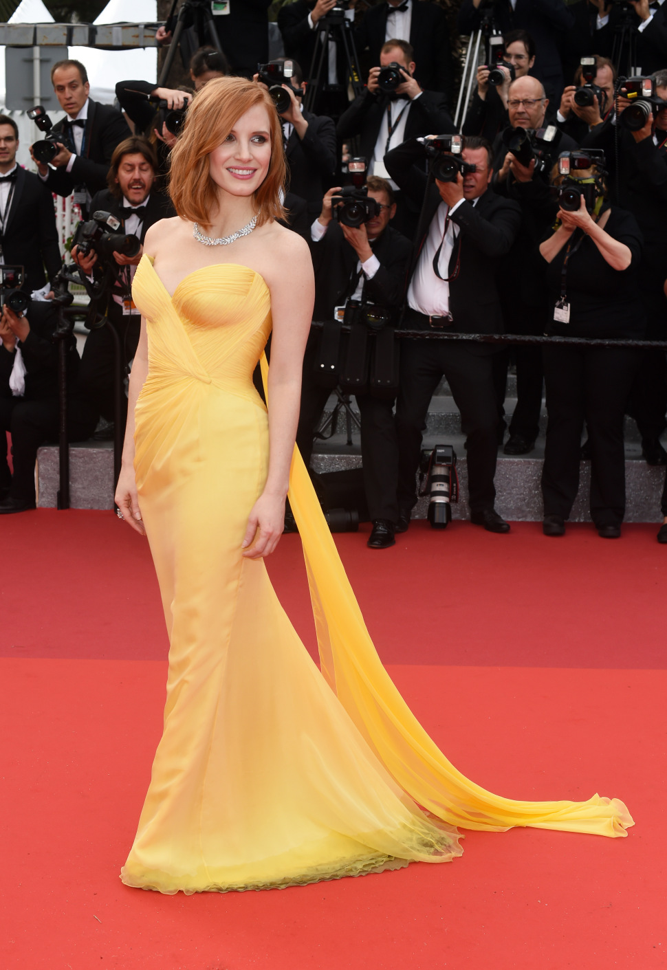 Mandatory Credit: Photo by David Fisher/REX/Shutterstock (5682155cm) Jessica Chastain'Cafe Society' premiere and opening ceremony, 69th Cannes Film Festival, France - 11 May 2016