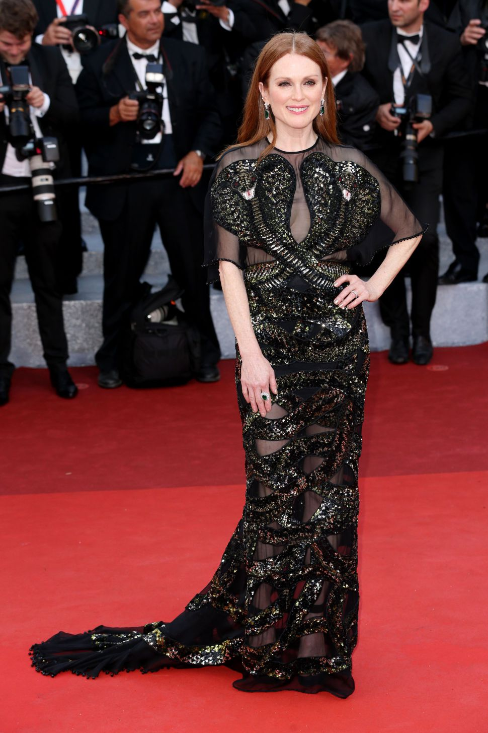 Mandatory Credit: Photo by James Gourley/REX/Shutterstock (5682158ae) Julianne Moore'Cafe Society' premiere and opening ceremony, 69th Cannes Film Festival, France - 11 May 2016