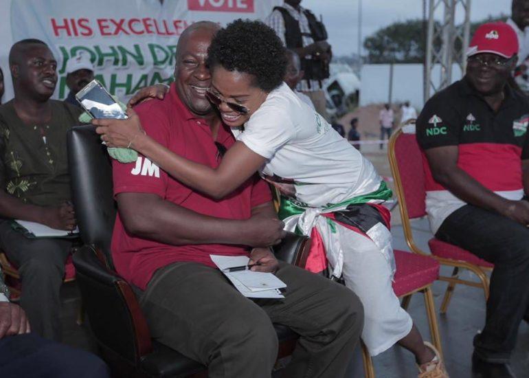 Mzbel and President Mahama