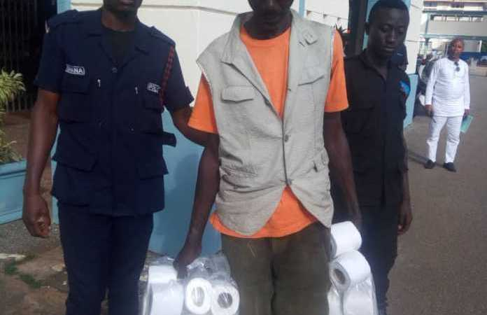 WTF OF THE WEEK: Man In The Grips Of The Police For Stealing MP's Toilet Rolls; What Happened To Those Who Squandered Our Ghc610m?