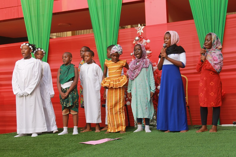 Pupils of North Hills International School in a Play