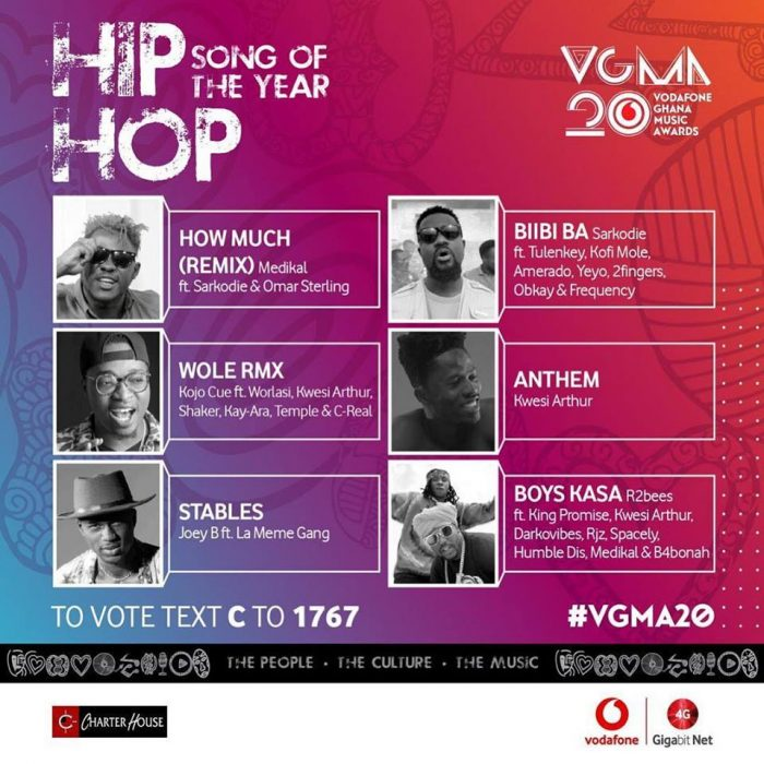 Hiphop e1552659162209 - VGMA 2019: Charterhouse Releases Full List Of Nominees
