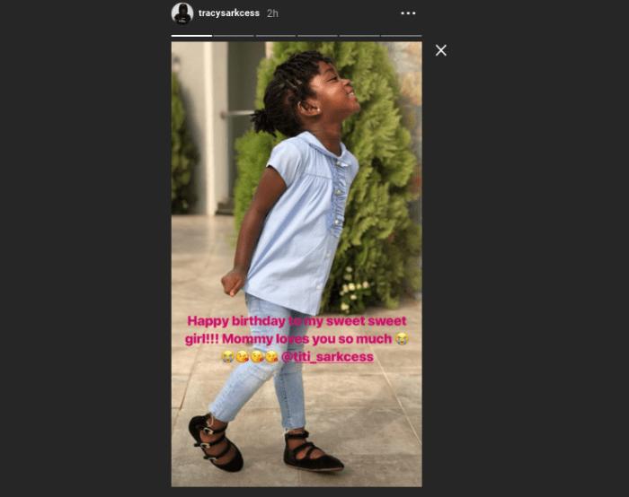 Screenshot 2019 03 28 at 09.26.29 - Titi Sarckess Celebrates 3rd Birthday with SWEET Birthday Message from her Mum — READ