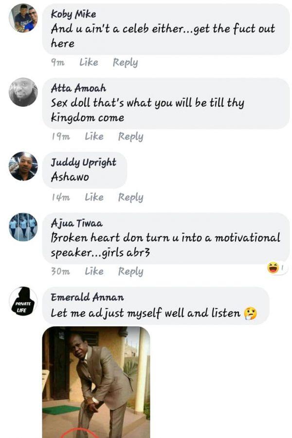Tapoli e1553514404296 - SCREENSHOT: 'Broken Heart Don Turn You Into A Motivational Speaker, Comot For There' — Facebook Users Blast Princess Shyngle