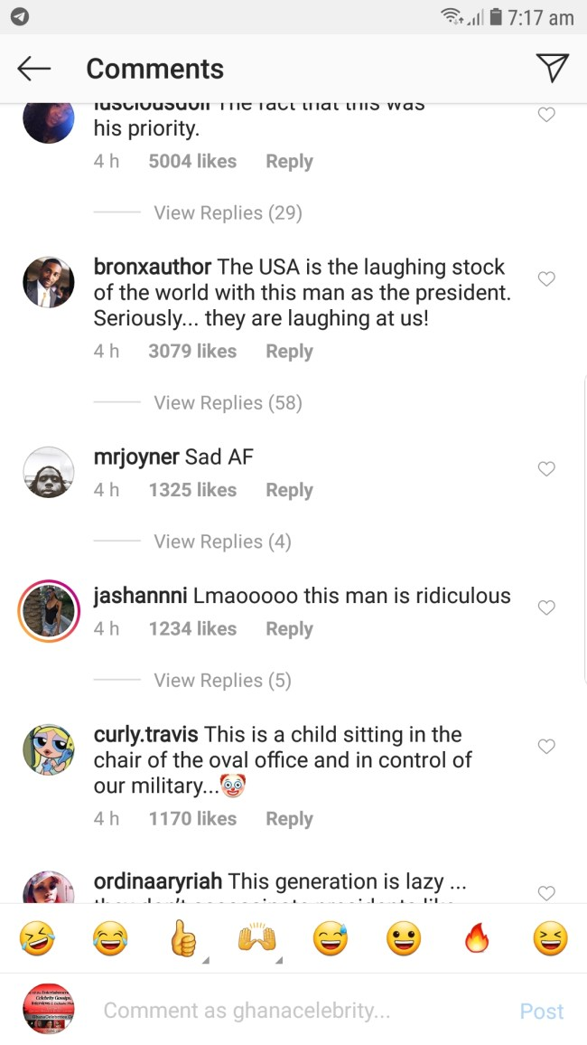 Screenshot 20190425 071734 GBInsta - SCREENSHOTS: Instagram Users Blast Donald Trump For Reportedly Inviting The CEO Of Twitter To Discuss On Why He Keeps Losing Followers — Check