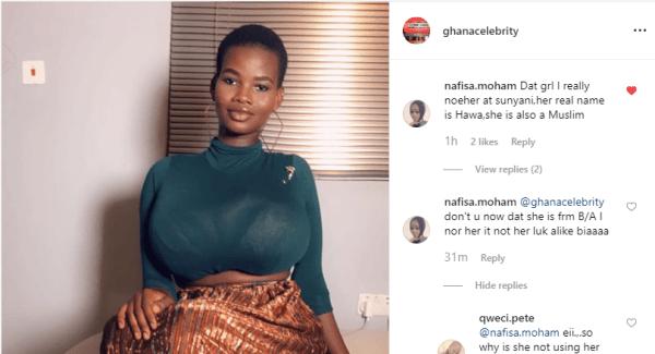 pamela sunyani - SCREENSHOT: Slay Queen, Pamela Odame's Real Name Is Hawa — Social Media User Reveals
