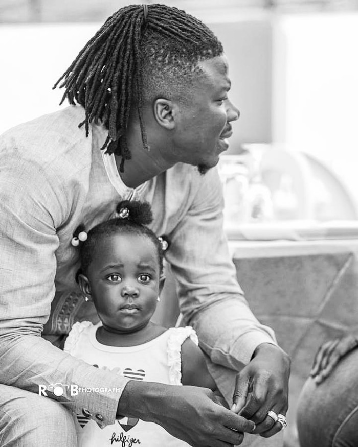 Image result for stonebwoy and daughter