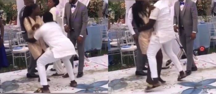 Guys Crazy Dance Moves Nearly Breaks A Lady's Waist At A Wedding – Video