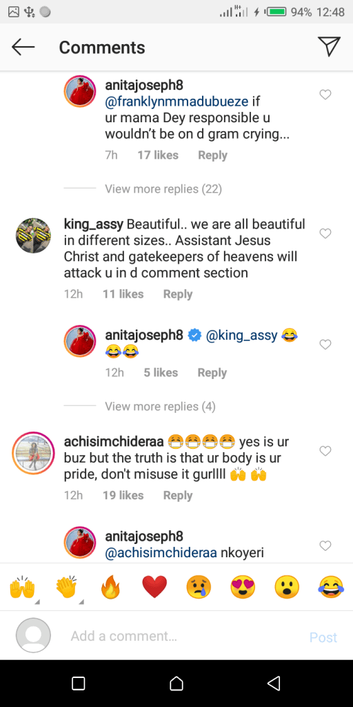 Anita Joseph posts nud3 video of herself on IG and this is how her fans reacted (video) 2
