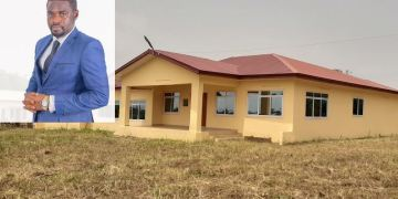 dr adu boateng with the building