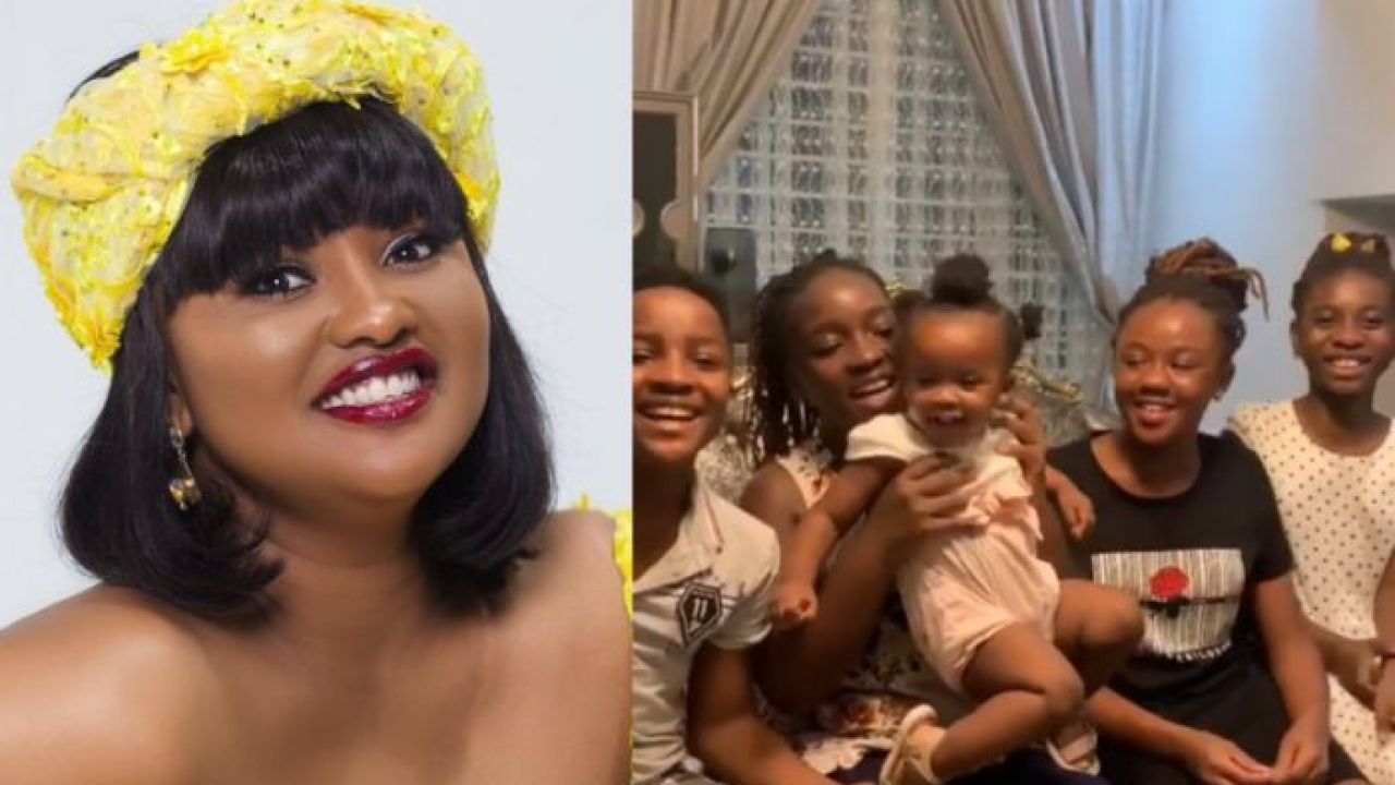 I Love My Babies - McBrown Says As She Flaunts All Her 5 Children - Video -  GhanaCelebrities.Com