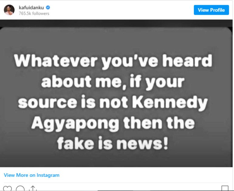 Kafui Danku supports Kennedy Agyapong's expose on Bishop Obinim. 2