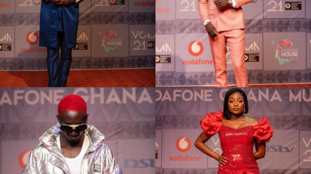 Best Dressed Celebrities On The Vgma Red Carpet Efya Bola Ray Kuami Eugene Okyeame Kwame Bosom P Yung And More Photos Ghanacelebrities Com