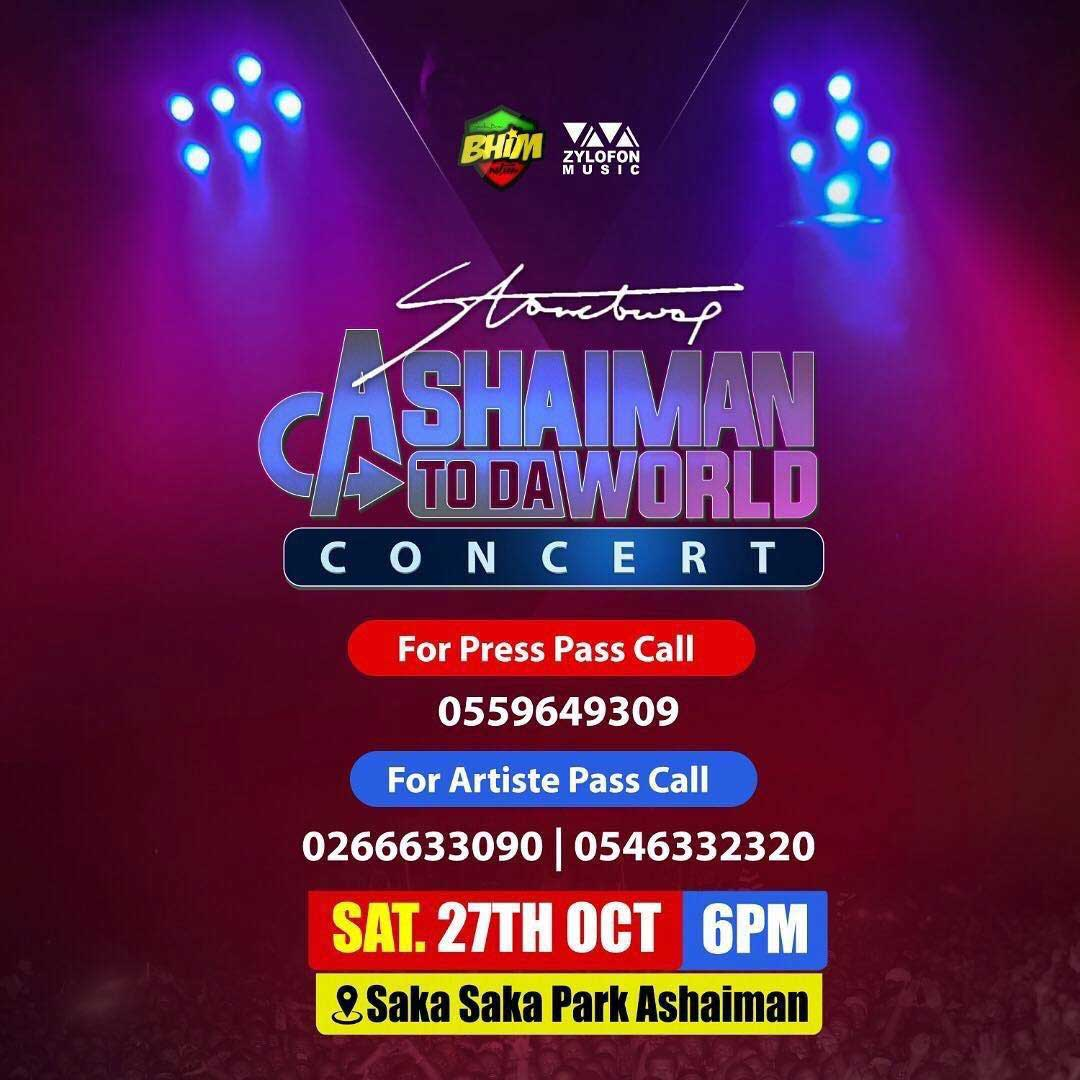 Stonebwoy's Ashaiman To The World Concert - Artists List To Perform