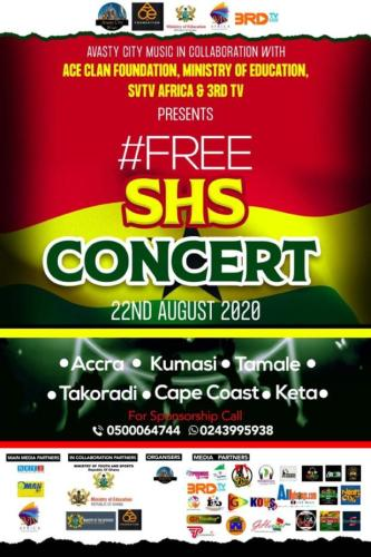 "Avast City music in collaboration with Minister of Education Ace Clan Foundation to Host ""Free SHS Concert"""