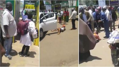 Photo of Crying woman gave birth outside Hospital after nurses refused to attend to her – Video Here