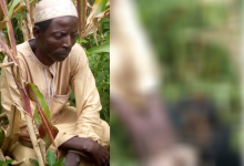 Photo of Old Man In Nigeria Buries His Newborn Grandchild Alive N Was Arrested – Photos